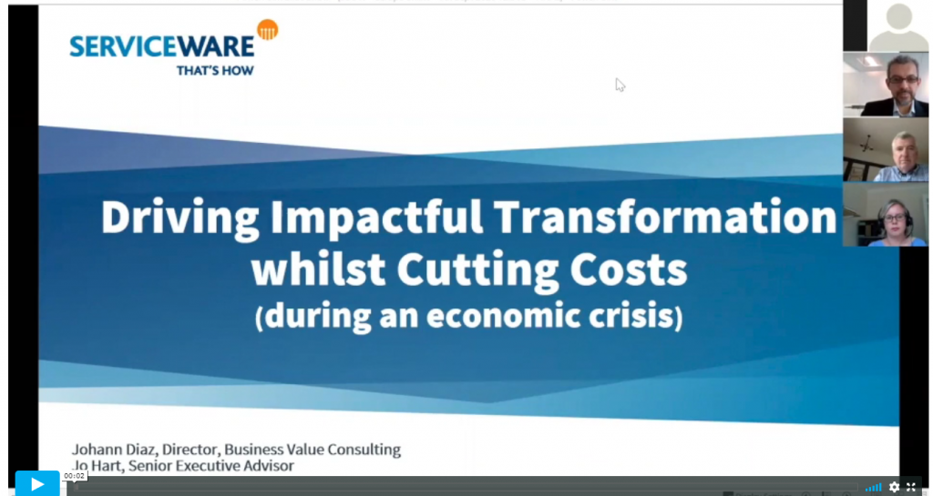 Workshop - Driving Impactful Transformation, whilst Cutting Costs, during an Economic Crisis