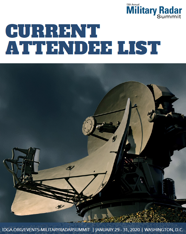 Military Radar Summit Current Attendee Snapshot