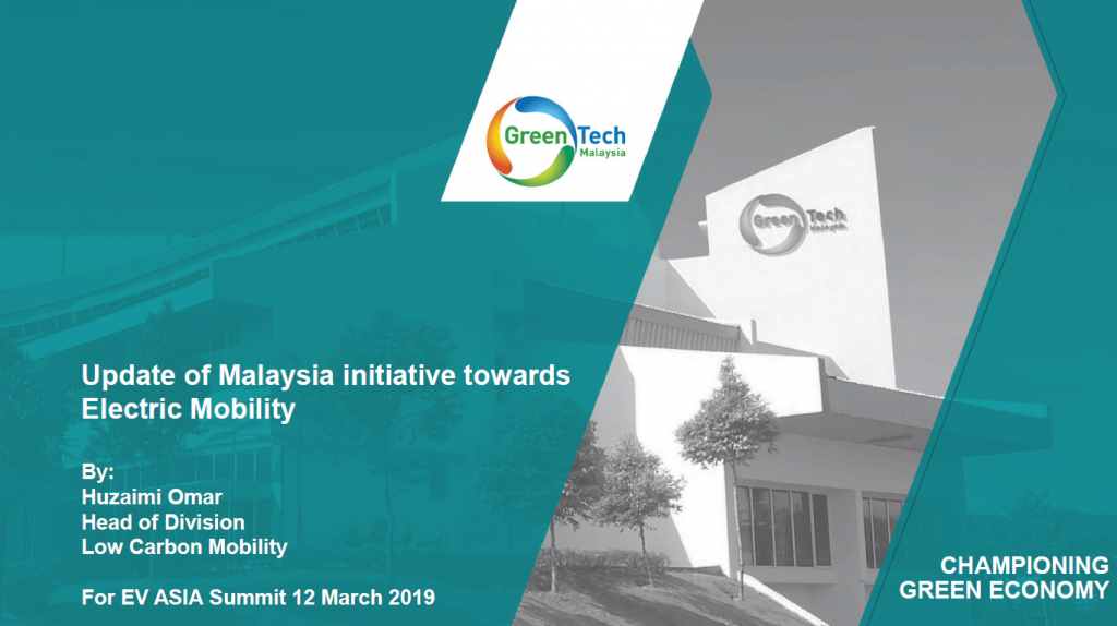 Read the Past Presentation - Update of Malaysia initiative towards Electric Mobility