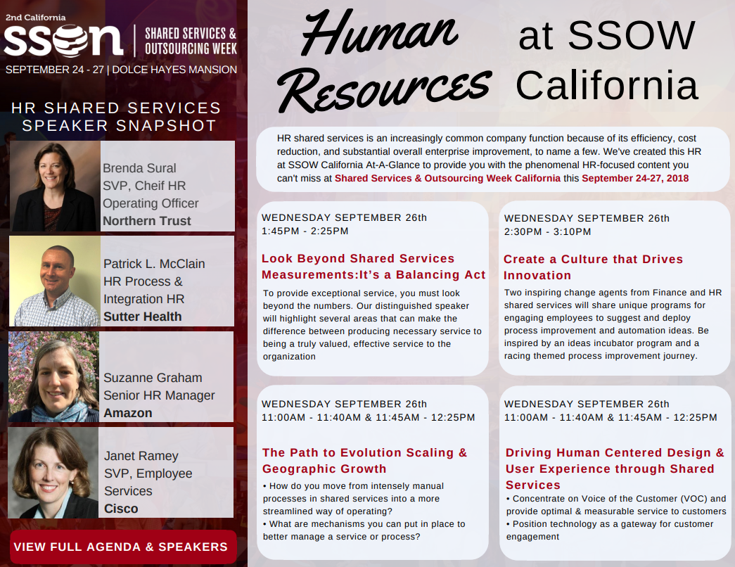 HR at Shared Services & Outsourcing Week California EQ