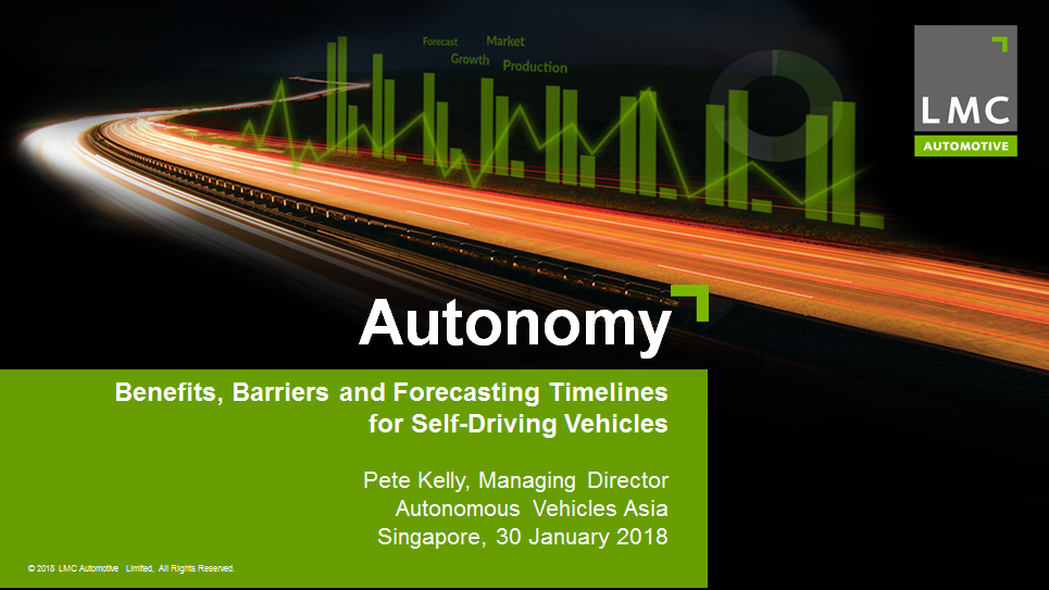 Download the Presentation - Benefits, Barriers and Forecasting Timelines from Autonomous Vehicles (AVs)