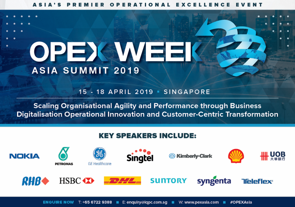 Operational & Process Excellence (OPEX) Week Asia Summit 2019