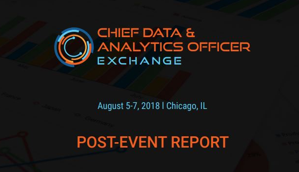 NEW! Chief Data and Analytics Post Event Report - August 2018