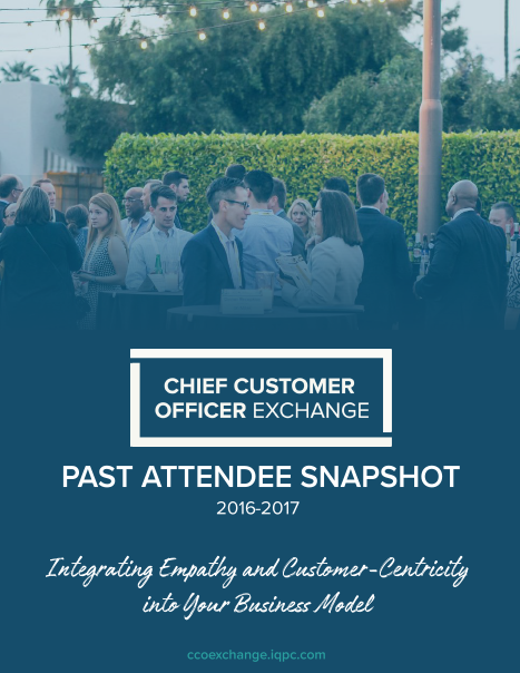 Chief Customer Officer Exchange Past Attendee Snapshot