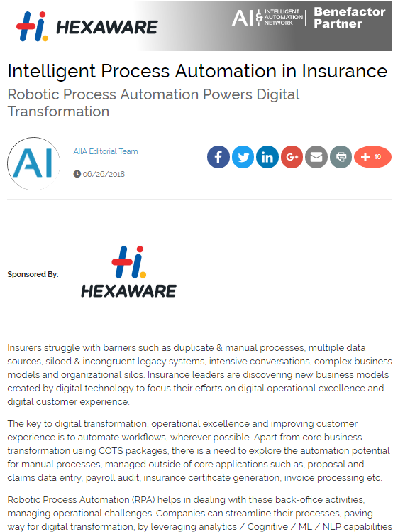 Intelligent Process Automation in Insurance