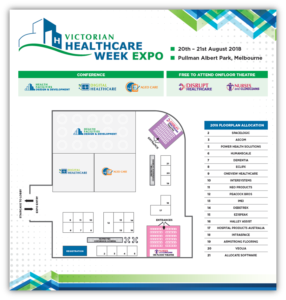 Victorian Healthcare Week Floorplan 2018