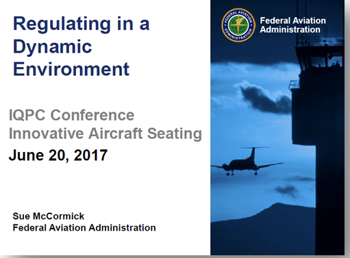 "Federal Aviation Administration USA presents on ""Regulating in a dynamic environment"""