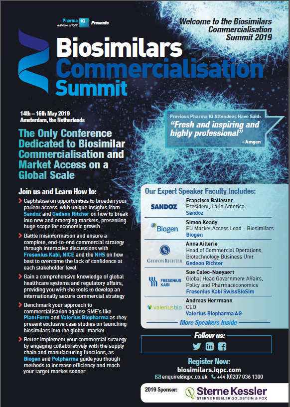 Biosimilars Commercialisation Summit Agenda 2019