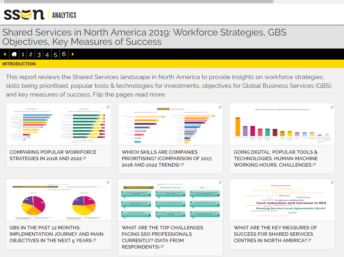 Shared Services in North America 2019 Interactive Report: Workforce Strategies, GBS Objectives & Key Measures of Success