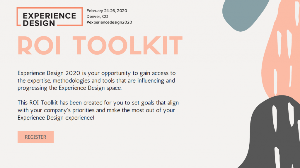 2020 Experience Design Week ROI Toolkit