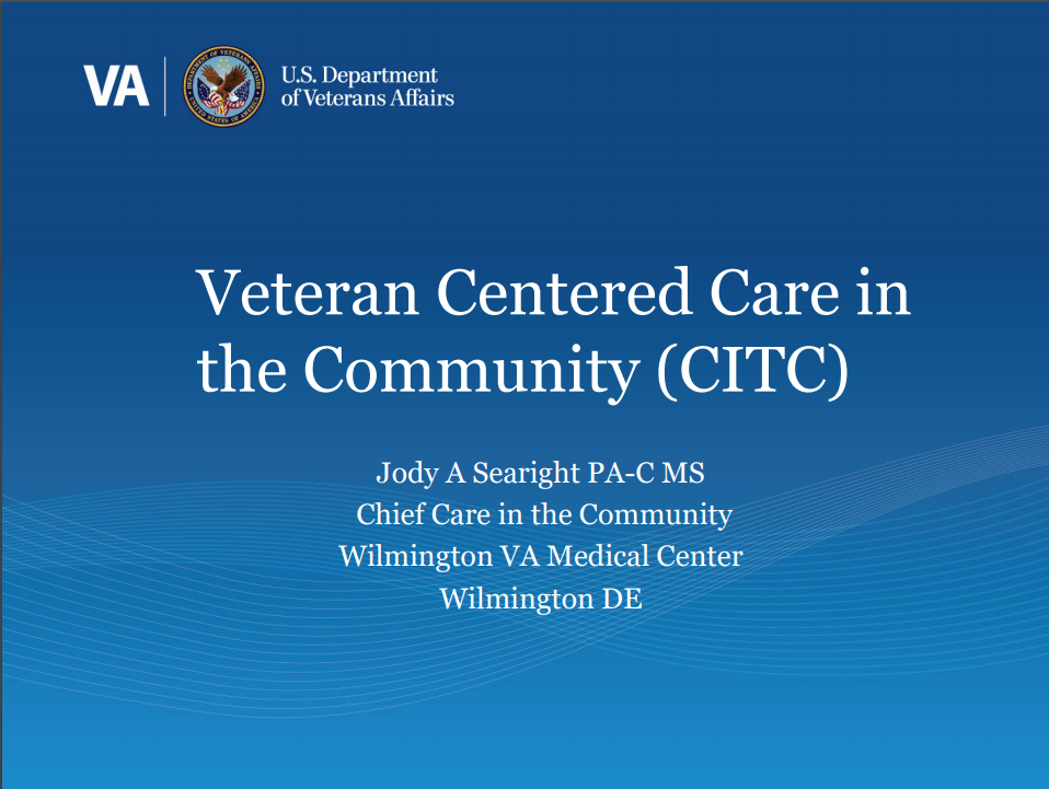 Veteran Centered Care in the Community (CITC)