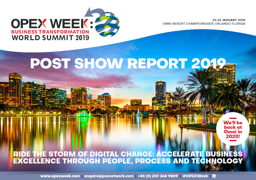 OPEX Week - 2019 Post Show Report