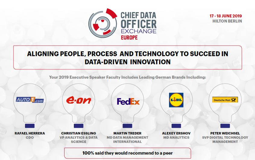 2019 Agenda: Chief Data Officer Exchange Europe