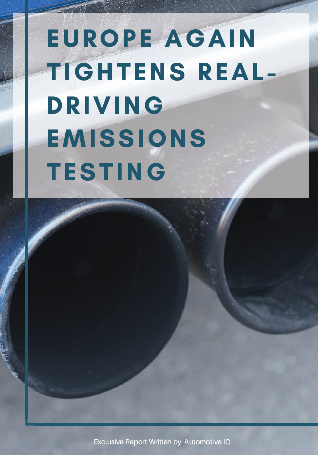 Report - Europe Again Tightens Real-Driving Emissions Testing