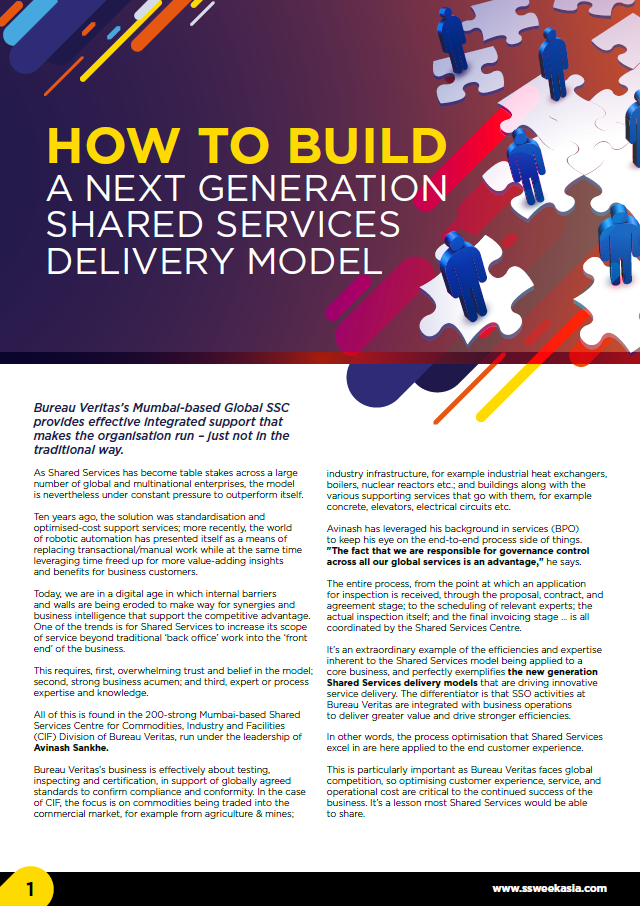 How to Build a Next Generation Shared Services Delivery Model: A Case Study of Bureau Veritas