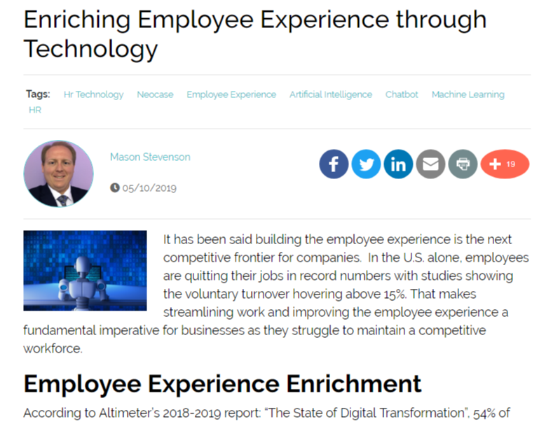 Enriching the Employee Experience Through Technology