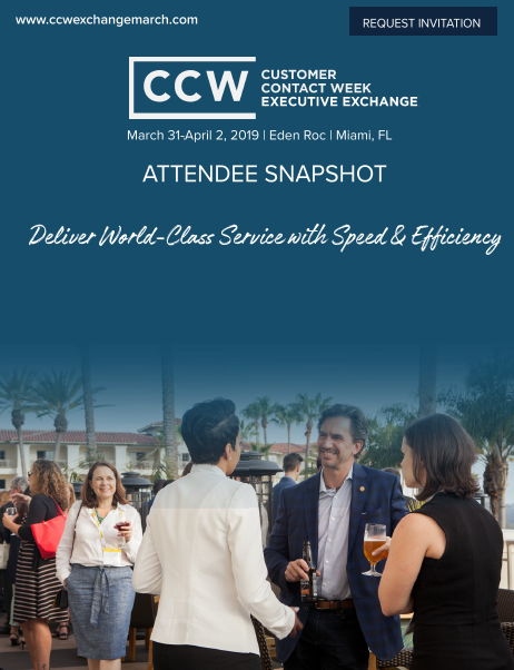 CCW Executive Exchange Current Attendee Snapshot