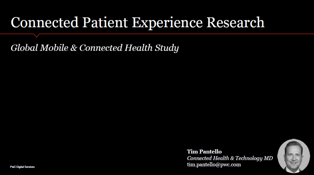 Connected Patient Experience Research: Global Mobile & Connected Health Study