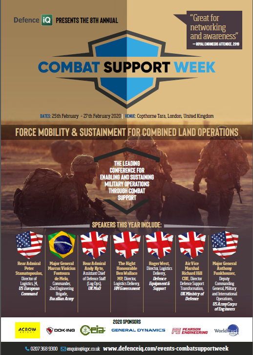 Download the Combat Support Week 2020 Agenda
