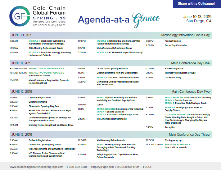 View the Agenda at a Glance - CCGF Spring