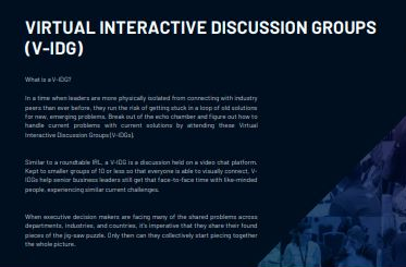 SSOW Virtual Interactive Discussion Group Prospectus