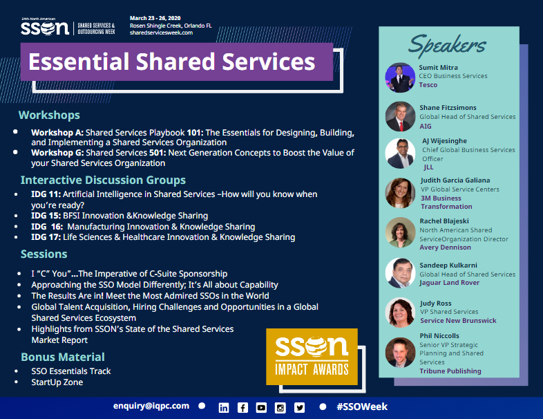 Essential Shared Services Mini Agenda