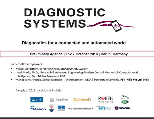 Diagnostic Systems 2018 Agenda