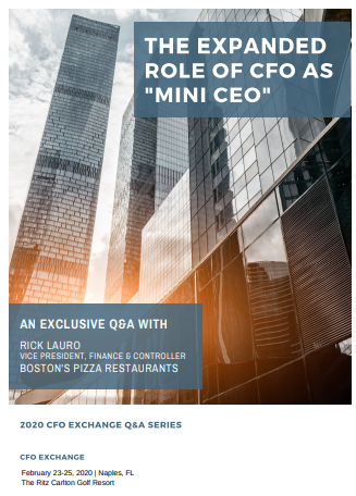 """Exclusive Q&A - The Role of CFO as """"Mini CEO"""""""
