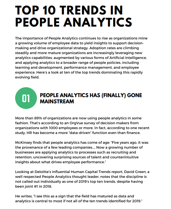 Top 10 Trends in People Analytics