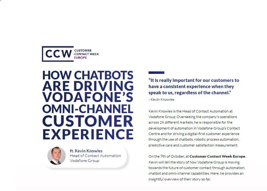 How chatbots are driving Vodafone's omni-channel customer experience