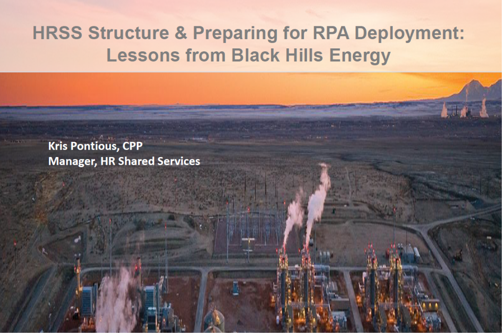 HRSS Structure and Preparing for RPA Deployment: Lessons from Black Hills Corporation