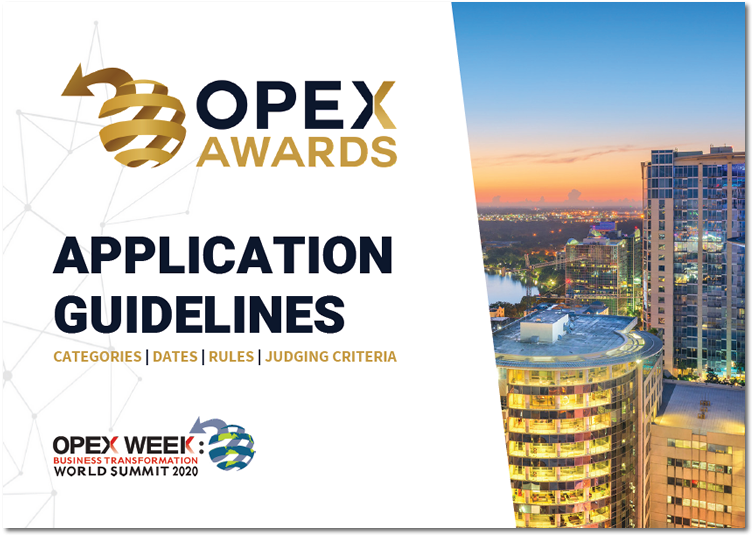 Global OPEX Awards 2020 Application Guidelines