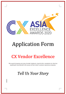CX Awards Application Form 2020 - CX Vendor Excellence