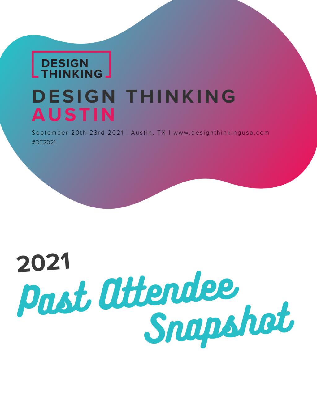 Design Thinking Attendee Snapshot
