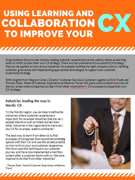 Using Learning and Collaboration to Improve your CX