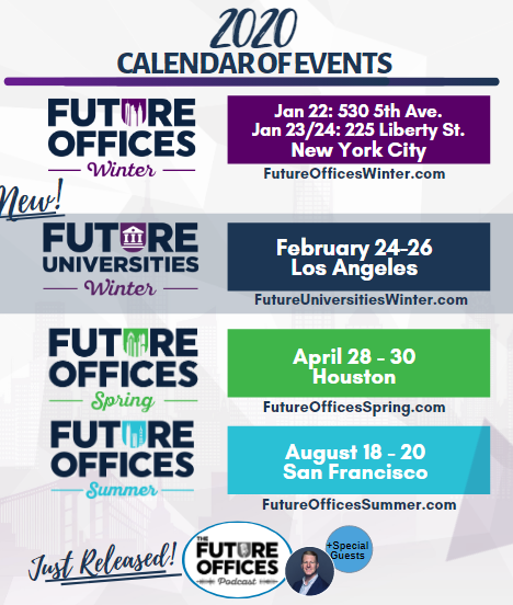 Future Offices 2020: Calendar of Events