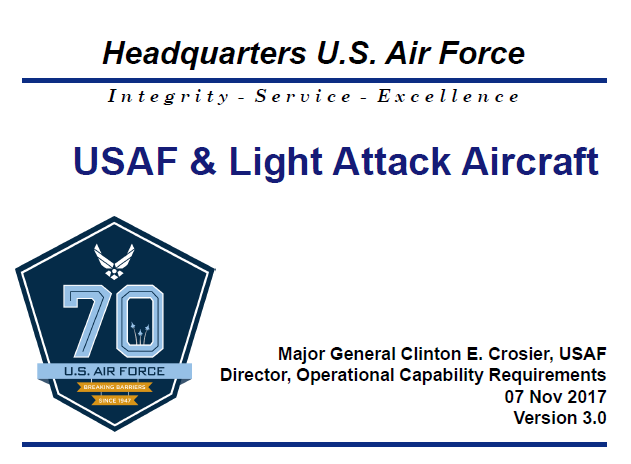 Past Presentation : Major General Clinton E, Crosier on USAF & Light Attack Aircraft