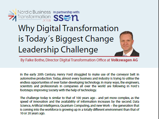 Why Digital Transformation is Today´s Biggest Change Leadership Challenge