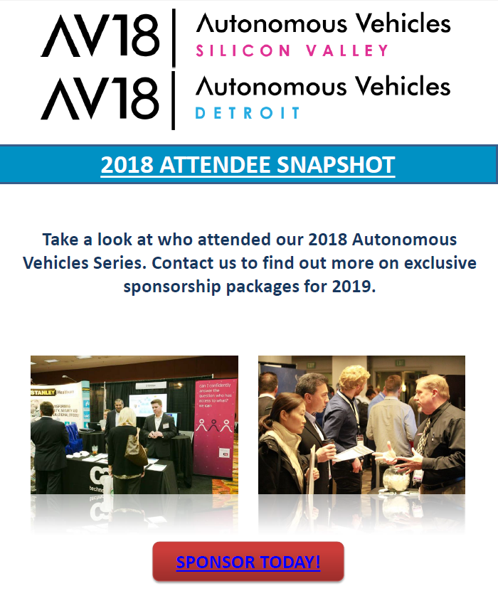 2018 Autonomous Vehicle Series Attendee Snapshot