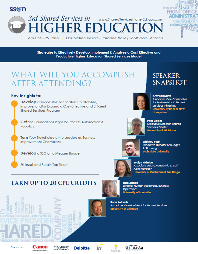 3rd Shared Services for Higher Education