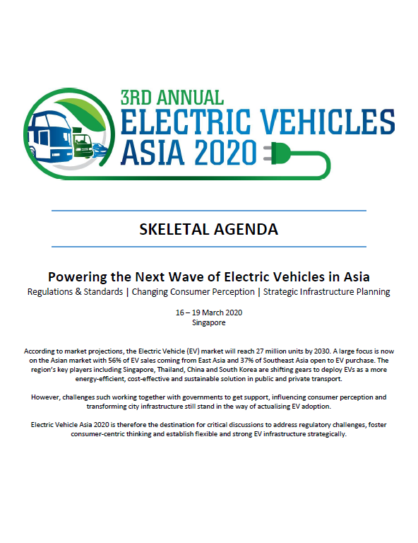 Download Your Event Guide - Electric Vehicles Asia Summit 2020 Preliminary Agenda