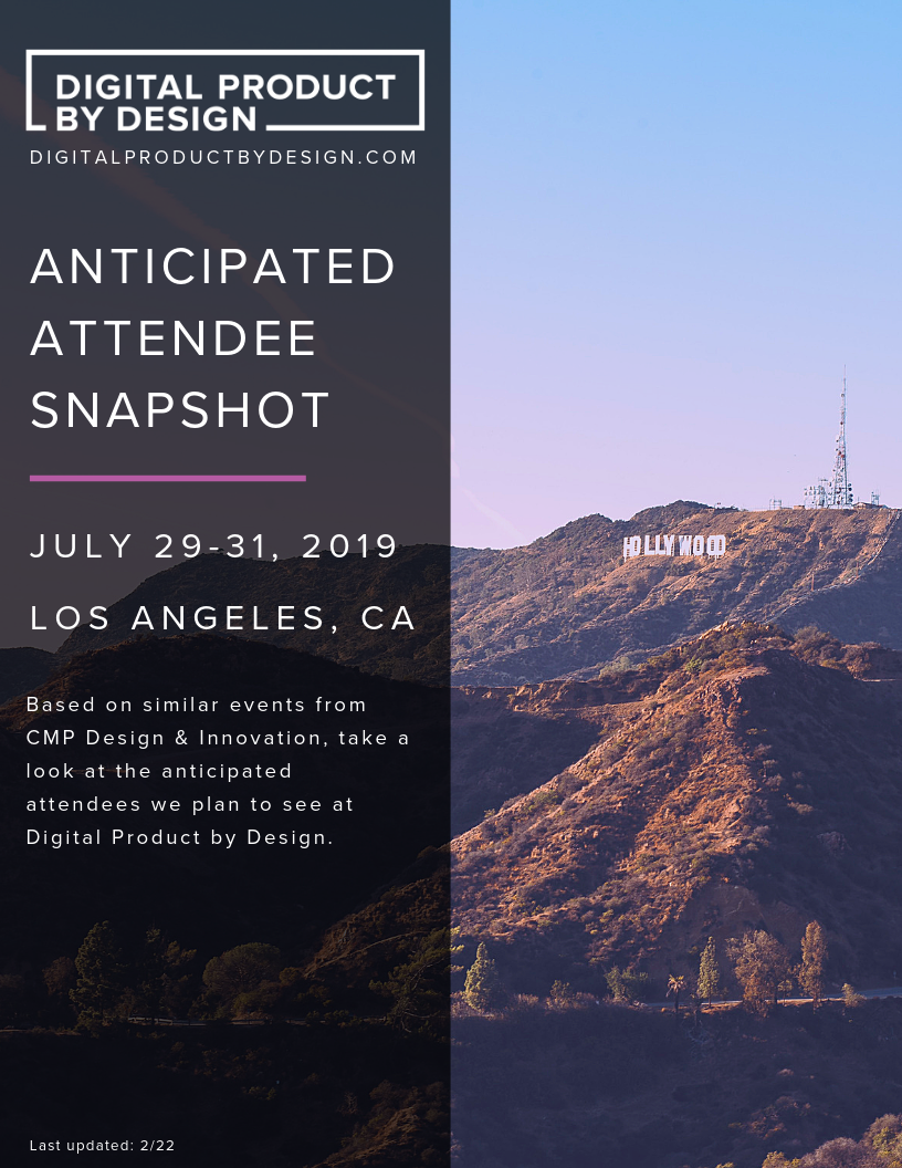 Digital Product by Design Attendee Snapshot