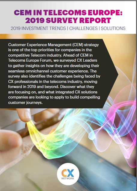 CEM in Telecoms Europe: Investment Trends Report 2019