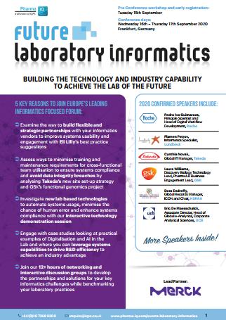 Download the Agenda: Future Laboratory Informatics 2020