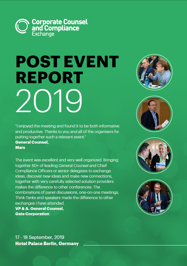 2019 Post Event Report - Corporate Counsel & Compliance Exchange September