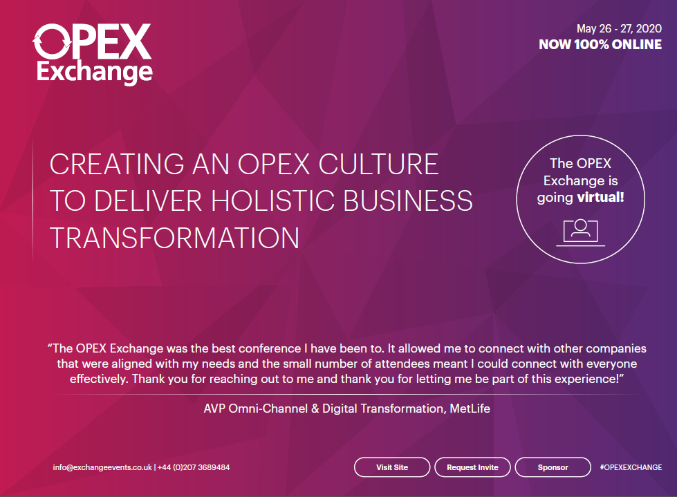 2020 Agenda: OPEX Virtual Exchange