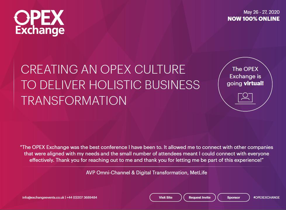 2020 Agenda: OPEX Virtual Exchange