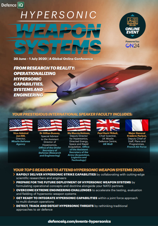 Hypersonic Weapon Systems 2020 Programme