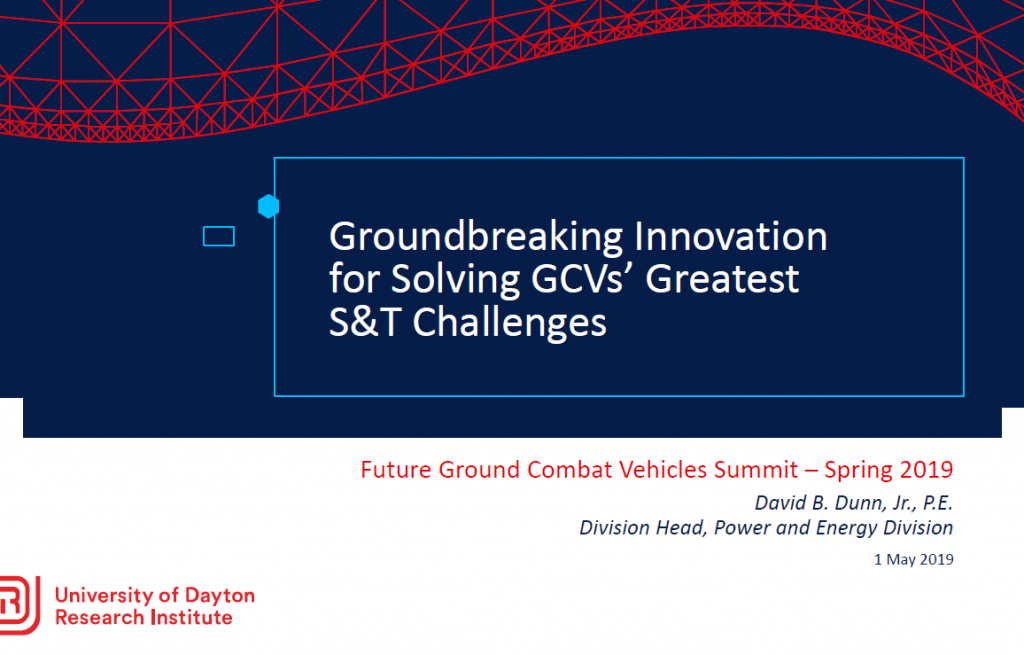 [Past Presentation] Groundbreaking Innovation for Solving GCVs' Greatest S&T Challenges