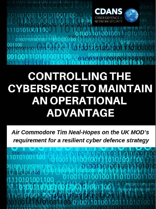 Controlling the cyberspace to maintain an operational advantage: Insights from Air Commodore Tim Neal-Hopes